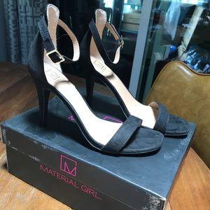 Material Girl black velvet heels 7.5